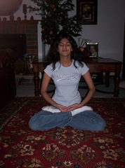 Neha in mediation posture