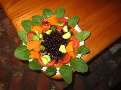 Vegan Salad that serve as the main course or the desert