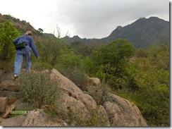 C;imbing over more rocks