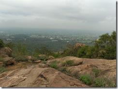Looking back to Perimbakkam Road