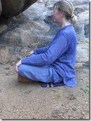 Meditating at Papji's cave