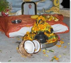 lingam after Puja
