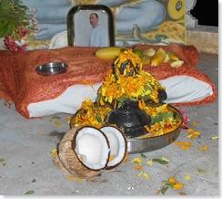 lingam after Puja