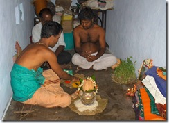 Mother's puja started