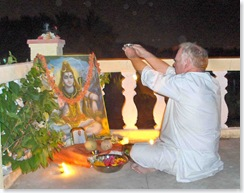Richard at Mahasivaratri Puja