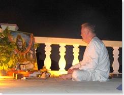 Richard at Puja