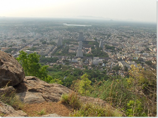 View from the top - Aranachaleswara Temple