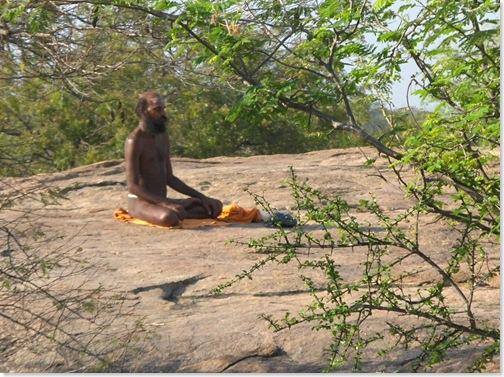 sitting sadhu
