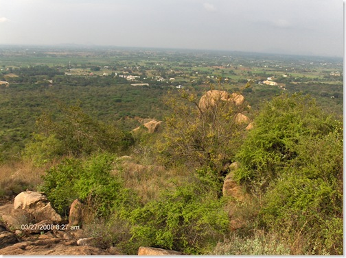 Looking down from Papaji's cave