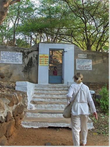 The gate from Ramanasramam