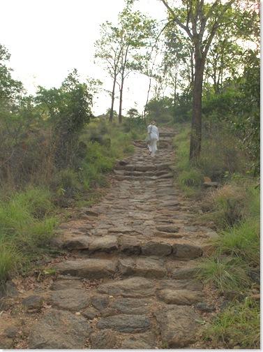 Climbing stairs here