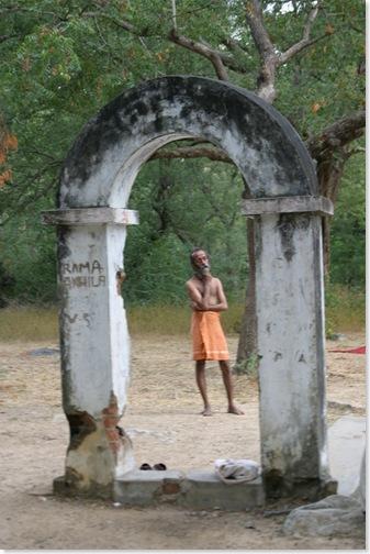 Sadhu at tank