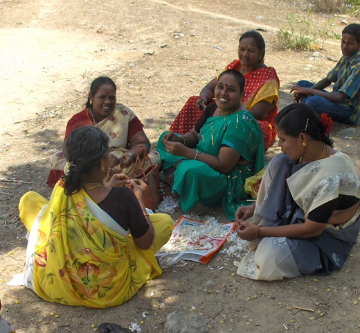 Family Feast In Gondapatai Village, Tamil Nadu: By Richard