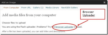 Browser-uploader