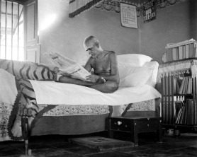 Sri Ramana reading