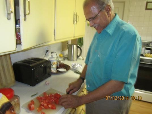 VIRAT-JI (AKA BHANDU-JI) PREPARING AN EXCELLENT DINNER
