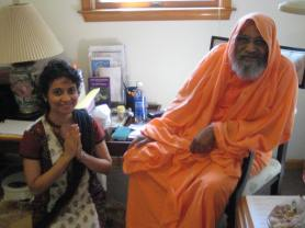 Shilpa and Swami-ji
