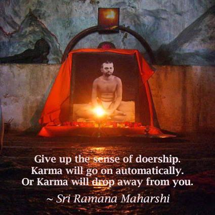 Give up the sense of doership