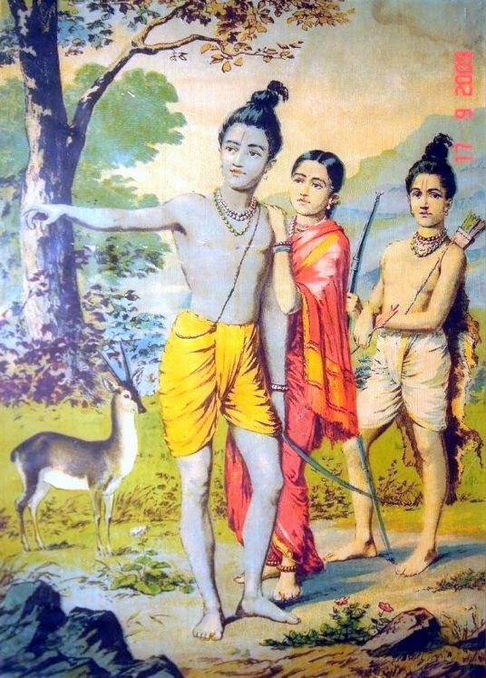 Rama_Sita-Lakshman in_forest