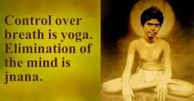 Yoga and breath Jnana and mind