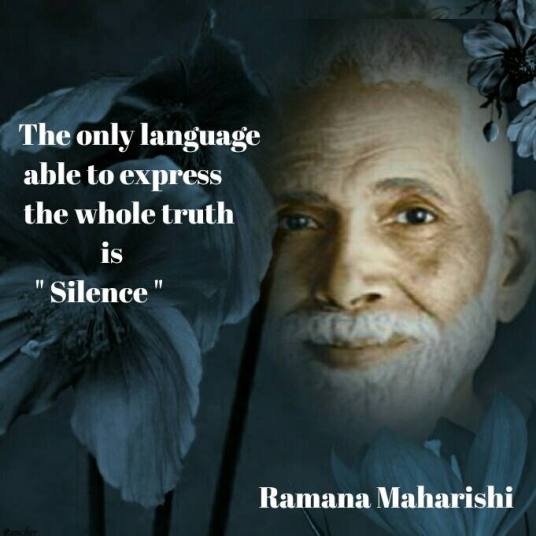 Silence is the only language